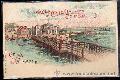 TARJETA POSTAL PUBLICITARIA DE GRUSS AUS HELGOLAND. AGUA DE COLONIA JOHNSON (Postales - Postales Temáticas - Publicitarias)