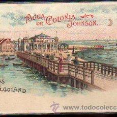 Postales: TARJETA POSTAL PUBLICITARIA DE GRUSS AUS HELGOLAND. AGUA DE COLONIA JOHNSON. Lote 31152707