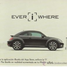 Postales: POSTAL PUBLICITARIA DE BEETLE - VOLKSWAGEN - EVER I WHERE - THE 21ST CENTURY BEETLE. Lote 31736892