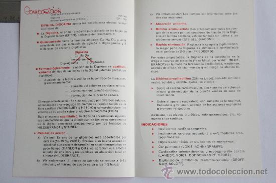 Postales: folleto PUBLICIDAD MEDICINA PROSPECTO DIFILINA DIGOXINA LABORATORIOS LIADA FARMACIA MEDICAMENTO - Foto 2 - 31777650
