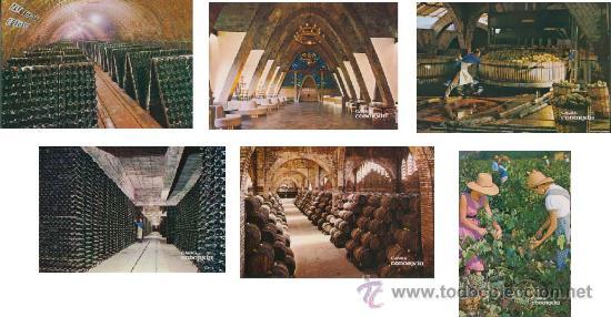Postales: Postal - coleccion de 9 postales de las Cavas Codorniu - Foto 2 - 32005166