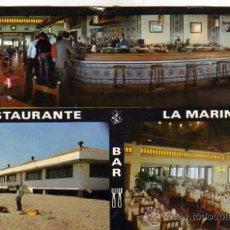 Postales: RESTAURANTE LA MARINA LA LÍNEA DE LA CONCEPCIÓN ESCRITA CIRCULADA SELLO. Lote 32038577