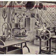 Postales: ANTIGUA POSTAL PUBLICIDAD. INTERIOR FÁBRICA DE PASTA DE BOLONIA. FRIEDRICHS. BARCELONA. 1910S. Lote 32250876