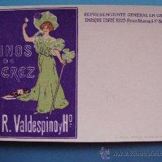 Postales: POSTAL PUBLICITARIA. PRIMEROS DE SIGLO XX. VINOS JEREZ VALDESPINO EN CATALUÑA. BEBIDAS. 1076. . Lote 32334561