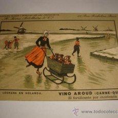 Postales: ANTIGUA TARJETA POSTAL ORIGINAL COLECCION VINO AROUD ( CARNE -QUINA ) LABORATORIOS H. FERRE. Lote 32554316