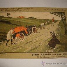 Postales: ANTIGUA TARJETA POSTAL ORIGINAL COLECCION VINO AROUD ( CARNE -QUINA ) LABORATORIOS H. FERRE. Lote 32554326