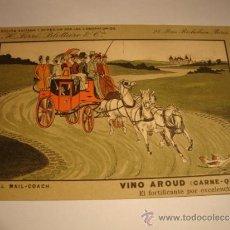 Postales: ANTIGUA TARJETA POSTAL ORIGINAL COLECCION VINO AROUD ( CARNE -QUINA ) LABORATORIOS H. FERRE. Lote 32554333