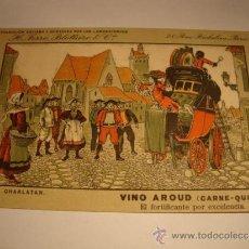 Postales: ANTIGUA TARJETA POSTAL ORIGINAL COLECCION VINO AROUD ( CARNE -QUINA ) LABORATORIOS H. FERRE. Lote 32554355