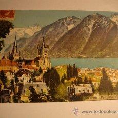 Postales: ANTIGUA TARJETA POSTAL ORIGINAL FARMACIA LABORATORIO CURIEL & MORAN, BARCELONA. Lote 32554593