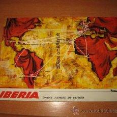 Postales: IBERIA MAPA DE RUTAS CIRCULADA 1976. Lote 32664875