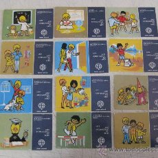 Postales: LOTERIA NACIONAL - 12 POSTALES SERIE L - COMPLETA -. Lote 31256174