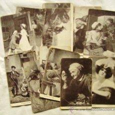 Postales: LOTE 15 POSTALES DIFERENTES CHOCOLATES AMATLLER MARCA LUNA - TEMÁTICA ARTÍSTICA. Lote 34391591