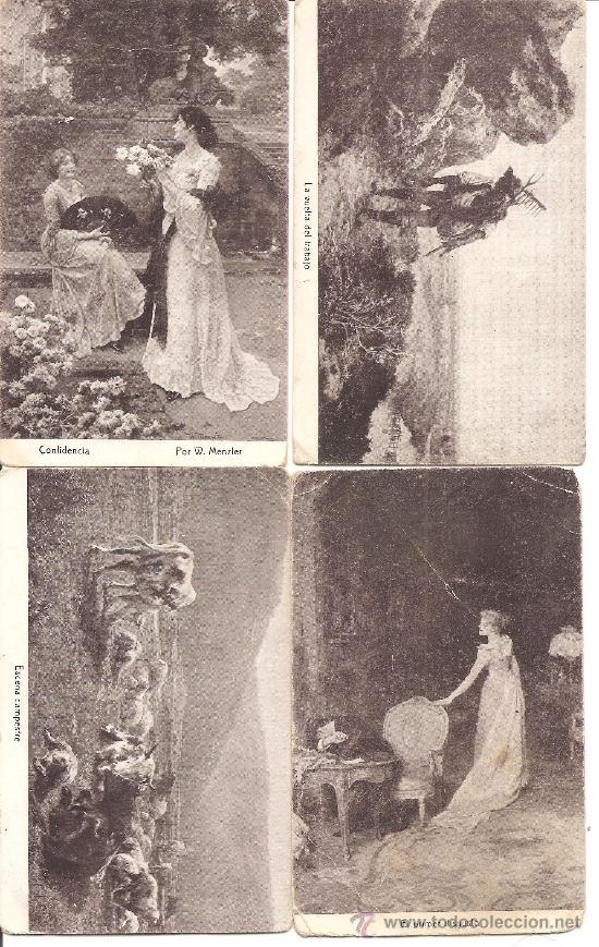 Postales: LOTE 15 POSTALES DIFERENTES CHOCOLATES AMATLLER MARCA LUNA - TEMÁTICA ARTÍSTICA - Foto 4 - 34391591
