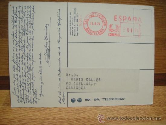 Postales: postal publicitaria de telefonica - circulada - Foto 2 - 34702624