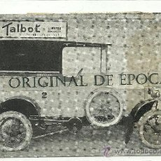 Postales: (PS-30373)POSTAL CAMIONETAS DE REPARTO DAVID S.A. CITROËN TALBOT. Lote 34925608