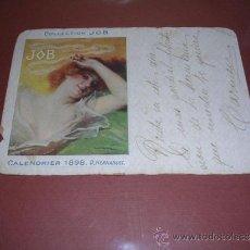 Postales: POSTAL COLLECTION JOB ( CIGARRILLOS ) CALENDIER 1898 D. HERNANDEZ ,CIRCULADA ,POSTAL FATIGADA , VER . Lote 34974655