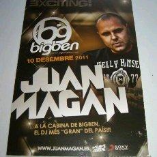Postales: DJ * JUAN MAGAN * (DISCOTECA BIG BEN) 10 DICIEMBRE 2011. Lote 208996917