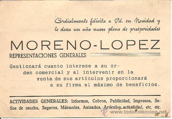 Postales: MORENO-PÉREZ - GESTOR COMERCIAL - LA RODA (ALBACETE) - CIRCULADA 1945 - Foto 2 - 35055776