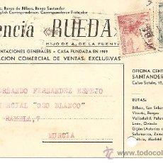 Postales: AGENCIA RUEDA - SANTANDER - CIRCULADA AÑO 1951. Lote 35202672