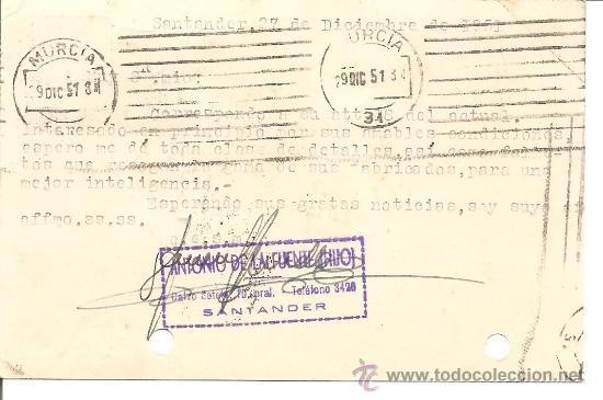 Postales: AGENCIA RUEDA - SANTANDER - CIRCULADA AÑO 1951 - Foto 2 - 35202672