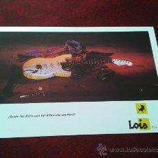 Postales: POSTAL PUBLICITARIA PANTALONES TEJANOS JEANS LOIS. Lote 35475938