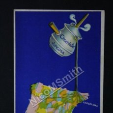 Postales: ANTIGUA POSTAL PUBLICITARIA CHOCOLATE EVARISTO JUNCOSA BARCELONA - ORIGINAL DE EPOCA - REF175. Lote 35533412