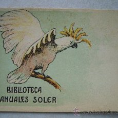Postales: POSTAL PUBLICITARIA DE BIBLIOTECA MANUALES SOLER ( AÑOS 30 / 40 ) -13.8 X 9.5 CTM. Lote 35952598
