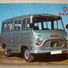 Postales: POSTAL PUBLICITARIA DE LA FURGONETA SAVA ( AÑOS 60 ) -16 X 10.5 CTM. Lote 35952674