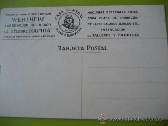 Postales: Wertheim. maquinas de coser y bordar. Barcelona. Barguño. Postal sin circular - Foto 2 - 36643457