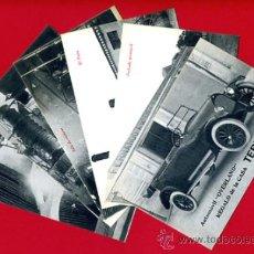 Postales: LOTE 6 POSTALES, AUTOMOVIL OVERLAND, COÑAC TERRY ,CADIZ , SERIE COMPLETA , VER FOTOS , ORIGINALES. Lote 36430861