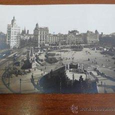 Postales: POSTAL PUBLICITARIA CASA CLAVAGUERA JOYERIA AL POR MAYOR. BARCELONA, PLAZA CATALUÑA. 1928.. Lote 36724071
