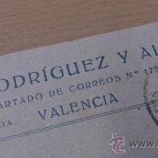 Postales: ANTIGUA TARJETA POSTAL PUBLICIDAD GOMEZ RODRIGUEZ Y ALBERTO VALENCIA . Lote 36888433