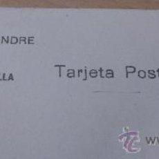 Postales: ANTIGUA TARJETA POSTAL PUBLICIDAD ALMACEN BISUTERIA Y QUINCALLA VICENTE ALEIXANDRE MADRID 1917. Lote 36920367