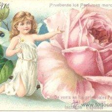 Postales: PS0042 POSTAL PUBLICITARIA DE PERFUMES ÁNFORA - SEVILA. CIRCULADA EN 1910. Lote 37102497