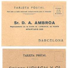 Postales: BARCELONA - LOTE 2 TARJETAS POSTALES PUBLICITARIAS MÉDICAS - AÑOS 20 SIN CIRCULAR. Lote 37112949