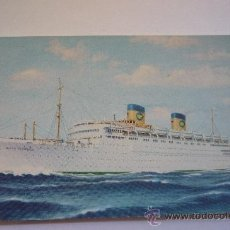 Postales: S/S QUEEN FREDERICA. NATIONAL HELLENIC AMERICAN LINE. SIN CIRCULAR.. Lote 37483243
