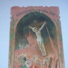 Postales: PUBLICIDAD PRINCIPIOS SIGLO XX DE ARSIQUININE LEMAITRE, CON IMAGEN RELIGIOSA.. Lote 37692511