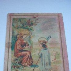 Postales: PUBLICIDAD PRINCIPIOS SIGLO XX DE CRÉME SAVON POUDRE SIMON. CON IMAGEN RELIGIOSA DE PASTORCILLOS.. Lote 37692624