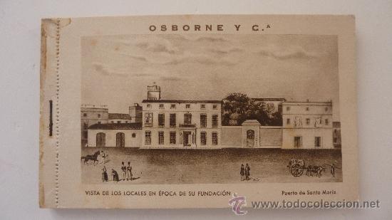 OSBORNE Y C BRANDY Y JEREZ . BLOC DE 12 POSTALES PUBLICIDAD DE LAS BODEGAS . ARTE BILBAO (Postales - Postales Temáticas - Publicitarias)