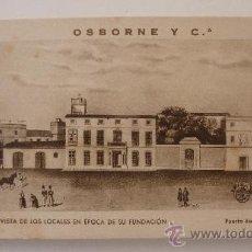 Postales: OSBORNE Y C BRANDY Y JEREZ . BLOC DE 12 POSTALES PUBLICIDAD DE LAS BODEGAS . ARTE BILBAO. Lote 37734377