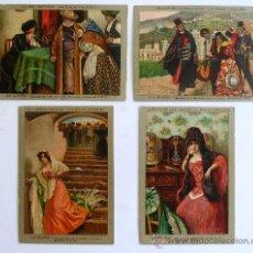 Postales: 4 TARJETAS POSTALES PUBLICIDAD DE LA GLORIA.- GALLETAS Y BIZCOCHOS DE LUJO, BARCELONA. Lote 37785600