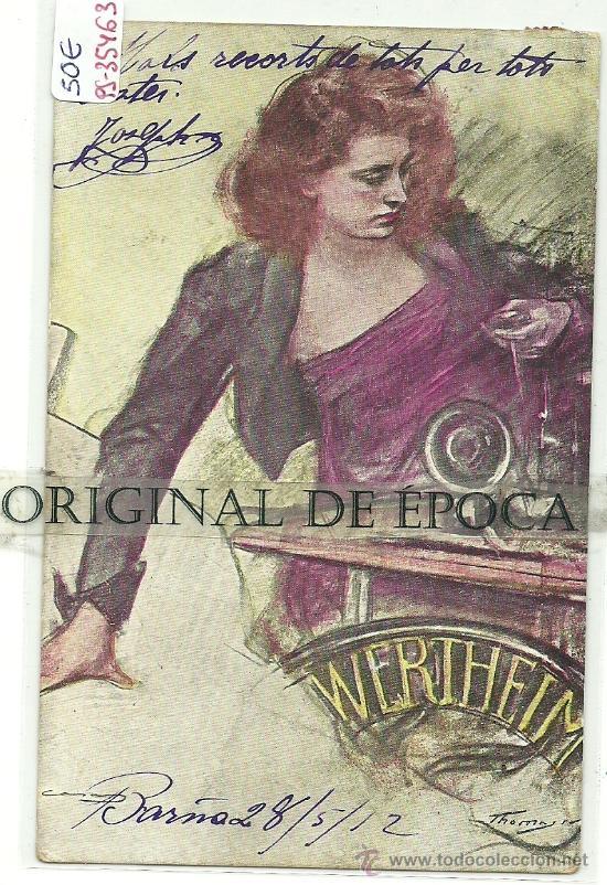 (PS-35463)POSTAL PUBLICITARIA MAQUINAS DE COSER WERTHEIM-ILUSTRADOR THOMAS (Postales - Postales Temáticas - Publicitarias)