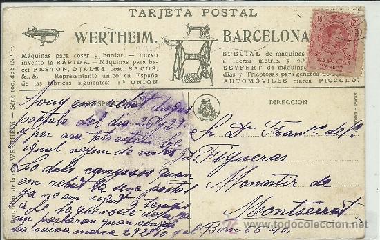 Postales: (PS-35463)POSTAL PUBLICITARIA MAQUINAS DE COSER WERTHEIM-ILUSTRADOR THOMAS - Foto 2 - 37898030