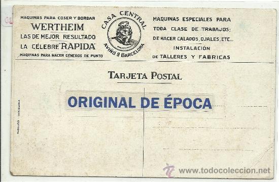 Postales: (PS-37730)POSTAL PUBLICITARIA MAQUINAS PARA COSER WERTHEIM - Foto 2 - 38236707
