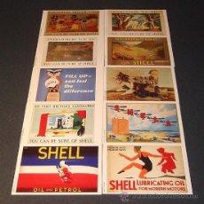 Postales: COLECCIÓN POSTALES PUBLICIDAD SHELL - SERIE Nº 1 DE 10. Lote 38488699