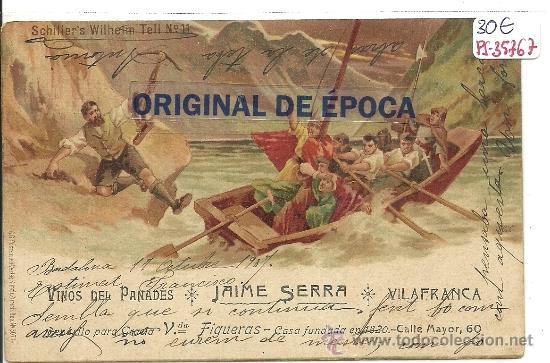 (PS-35767)POSTAL PUBLICITARIA DE VINOS DEL PANADES JAIME SERRA BODEGAS EN VILAFRANCA DEL PENEDES (Postales - Postales Temáticas - Publicitarias)