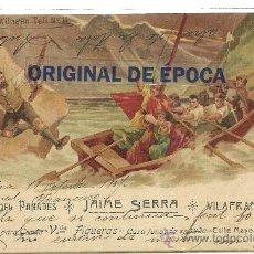 Postales: (PS-35767)POSTAL PUBLICITARIA DE VINOS DEL PANADES JAIME SERRA BODEGAS EN VILAFRANCA DEL PENEDES. Lote 38523616