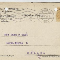 Postales: TARJETA POSTAL COMERCIAL PUBLICIDAD VICENTE ALEIXANDRE . BISUTERIA . MADRID - MALAGA 1920 Nº 271. Lote 38658714
