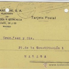 Postales: TARJETA POSTAL COMERCIAL PUBLICIDAD ALEIXANDRE . BISUTERIA . MADRID - MALAGA 1924 Nº 315. Lote 38658728