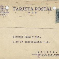 Postales: TARJETA POSTAL COMERCIAL PUBLICIDAD CAYATTE MADRID - MALAGA 1929 Nº 315. Lote 38665415